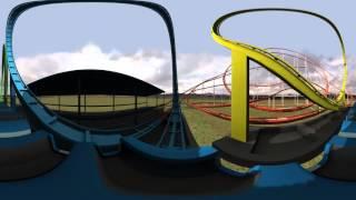 roller coaster 360 video 4k