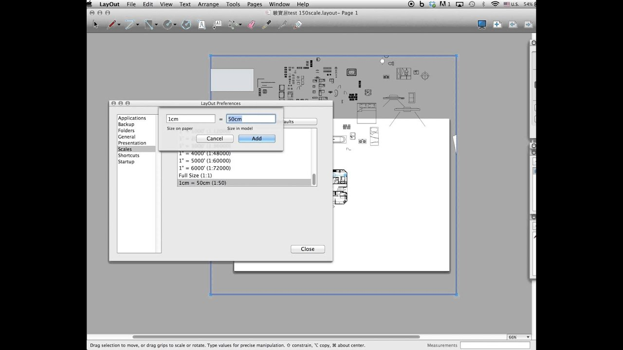 How To Set Custom Scale In Layout Sketchup For Print 1 50