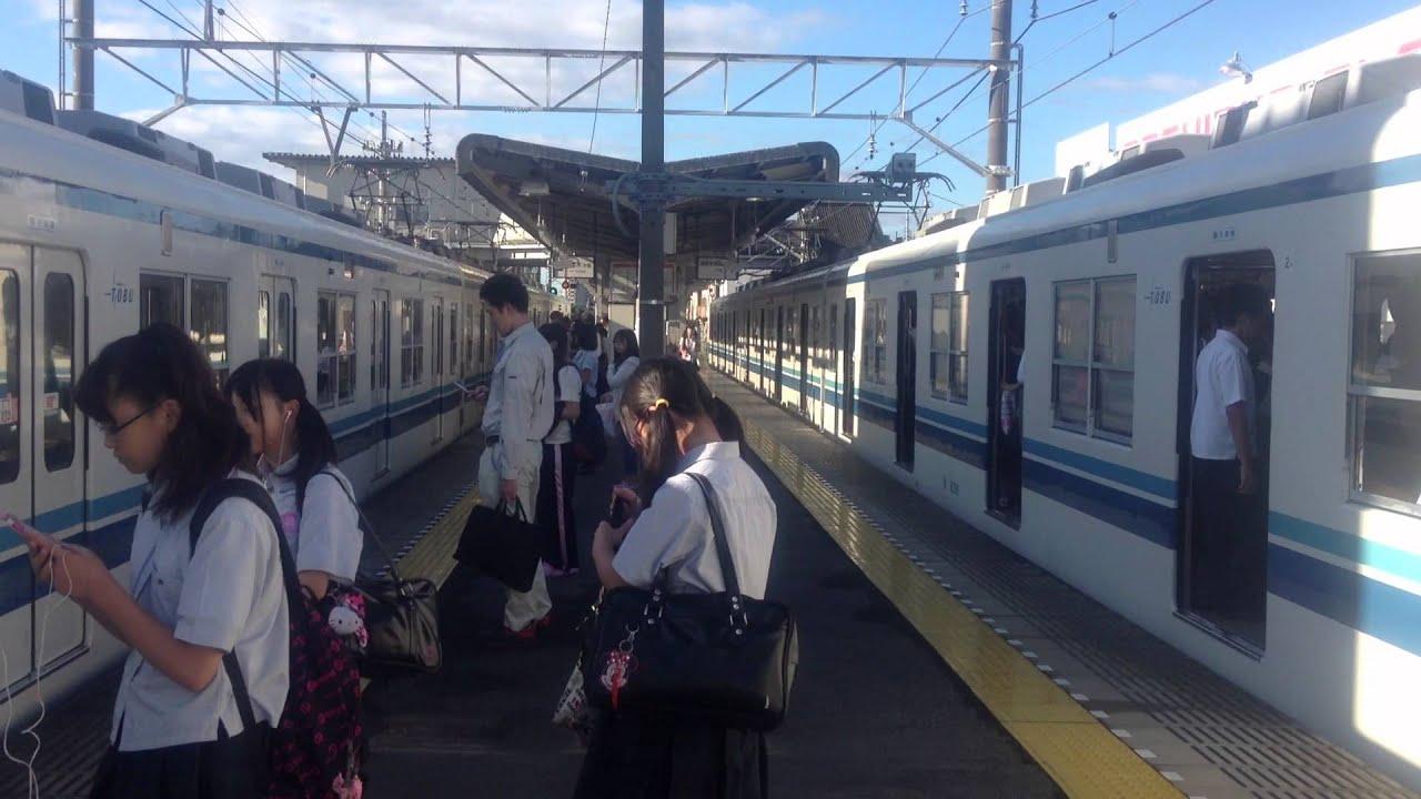 平日朝ラッシュ時の東武宇都宮線