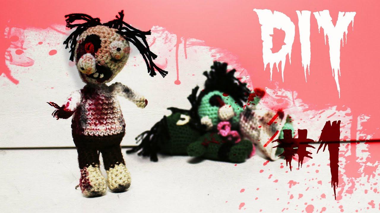 Zombie Häkel-Anleitung DIY *Halloween* Part 1 - YouTube