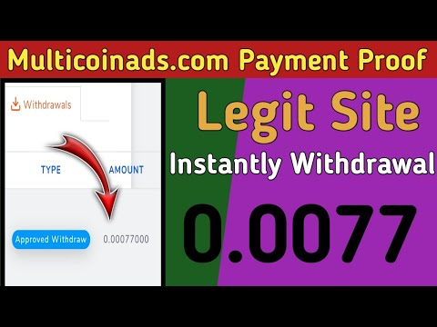 Multicoinads.com Payment Proof | Free Bitcoin Mining Website 2020 | Cloud Mining Site | Ahmad Online