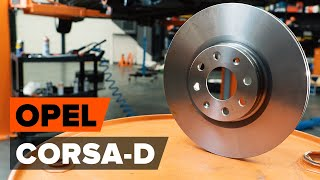 Watch the video guide on OPEL CORSA D Brake discs and rotors replacement