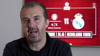 Coach Pianigiani presenta Olimpia Milano - Real