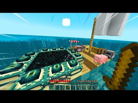 ALL OF MINECRAFT BUT ON A RAFT.. (Part 3)