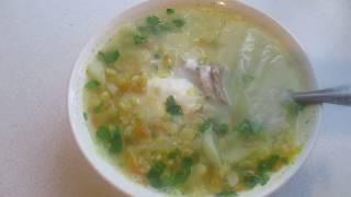 Готовим вкусный гороховый суп с мясом свинины