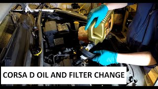 Vauxhall Corsa D Oil and Filter change diy