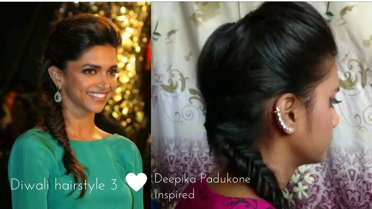 Hairstyle 3 Diwali Special Deepika Padukone Inspired Hairstyle