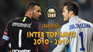 INTER TOP SAVES from 2010 to 2019 - HANDANOVIC and JULIO CESAR - NUMBER ONE