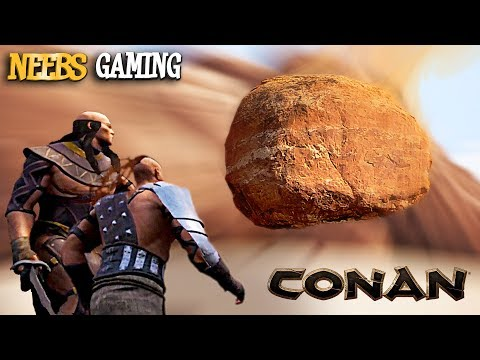 Conan Exiles - FALLING ROCKS, WATCH OUT!