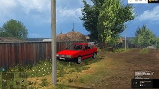 Audi 80 для FS 17. Покатухи на синей бочке