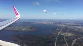 ✈ Wizzair Airbus A320 Approach & Landing Kaunas Airport LTN-KUN