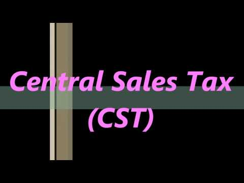 Central Sales Tax (CST) -  Tally ERP9