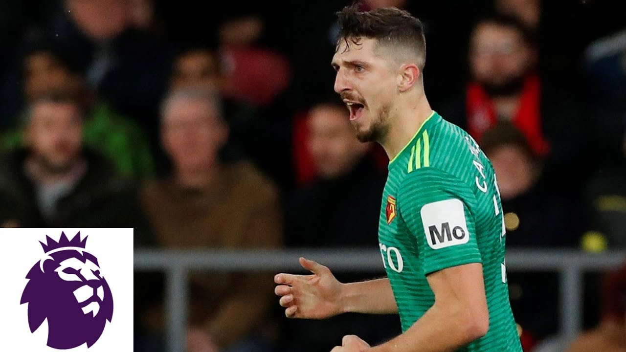 Craig Cathcart heads in equalizer for Watford | Premier League | NBC Sports