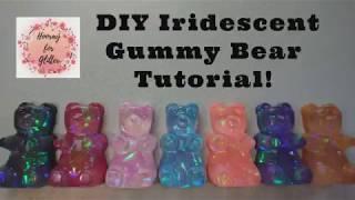 DIY Iridescent resin gummy bear tutorial