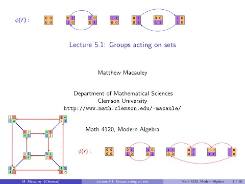 Visual Group Theory, Lecture 5.1: Groups acting on sets
