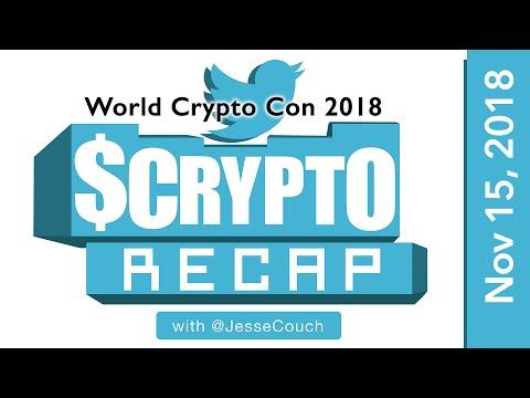 Crypto Conference WorldCryptoCon Recap @JesseCouch 2018