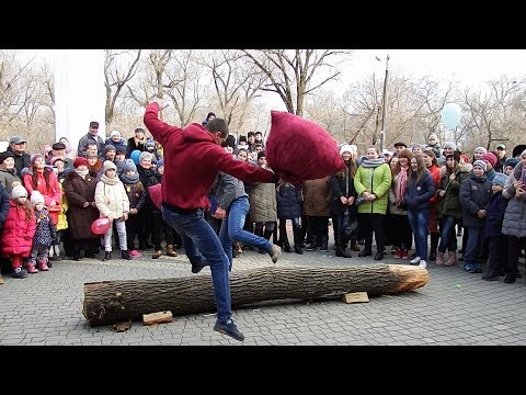 Масленица. Аккерман. Бои мешками. Турнир 1./ Shrovetide. Akkerman. Battles with bags. Tournament 1.