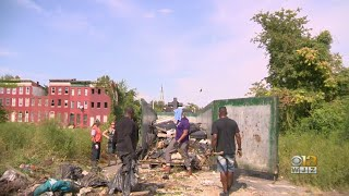 Community Advocates, Volunteers Work To Cleanup Trash In Baltimore