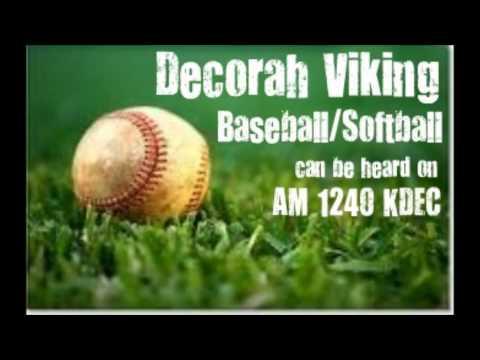 7-2 Decorah softball at New Hampton, game 1-KDEC Radio broadcast