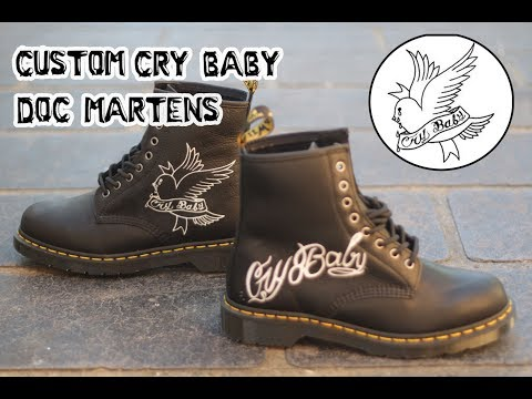 Complete Custom  Lil Peep 'cry Baby' Doc Martens By
