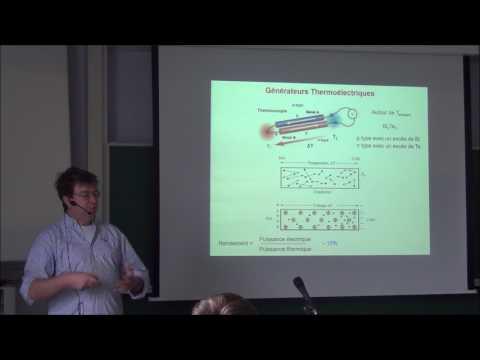 La thermoélectricité à base de matériaux organiques (par Jérôme Cornil)
