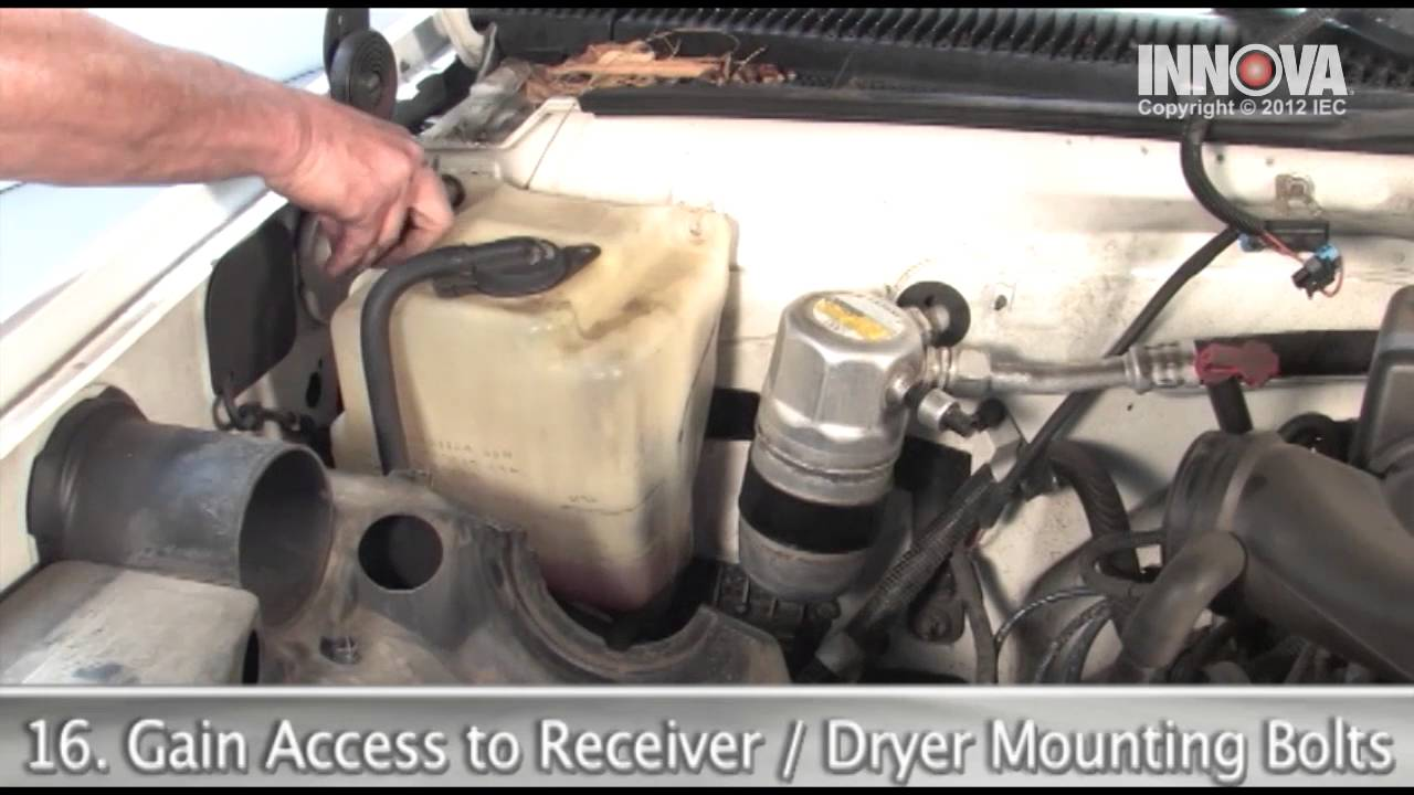how to change ac compressor receiver dryer and orifice tube 1997 gmc sierra youtube [ 1280 x 720 Pixel ]