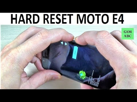 HARD RESET Motorola MOTO E4