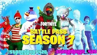 Fortnite Battle Royale Season 7 Buying The Battle Pass! Happy Holidays! Letd Get Lit!