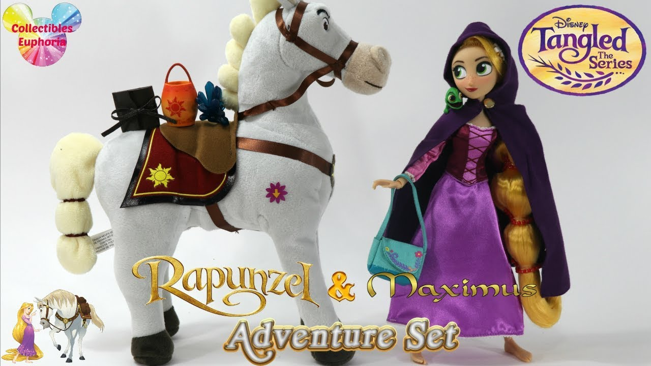 Unboxing Disney Store Rapunzel Maximus Adventure Set Tangled The Series Doll Review Youtube