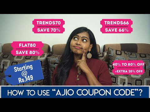 Ajio Coupons 2021(தமிழில்) | Get Up to 80% Off using Ajio Promo Codes | Ajio Shopping Haul