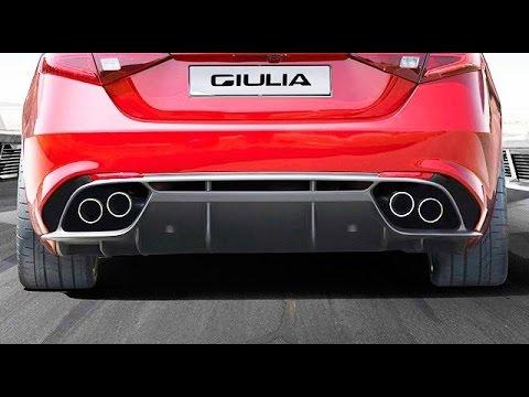 roar!! 2017 alfa romeo giulia exhaust sound - youtube