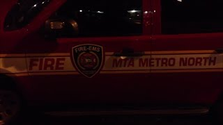 Rare MTA Fire Department Chief On Scene of Fatal Metro North Train Derailment