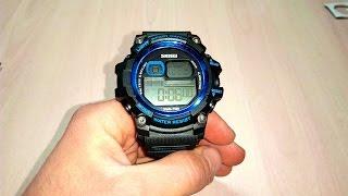 часы Skmei 1229 Dual Time Обзор и настройка