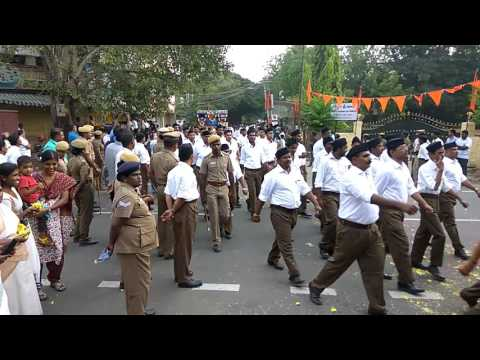 RSS Route march in Coimbatore-2016