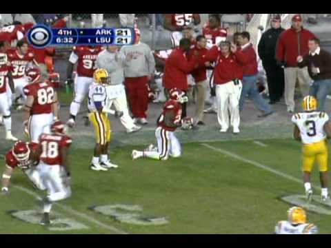 Arkansas vs. #1 LSU 2007 (3-OT)