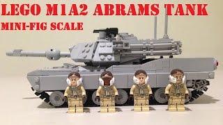 Lego Minifig M1 Abrams Tank!