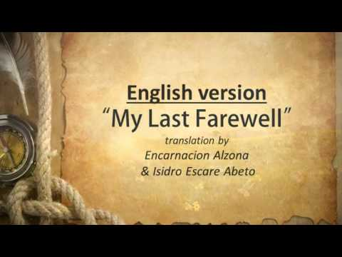 my final farewell by jose rizal Pahimakas tagalog translation of the poem mi último adios originally written in spanish by filipino national hero jose rizal last farewell huling paalam.