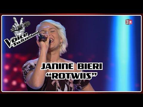 Janine Bieri - RotWiss   Blind Auditions   The Voice of Switzerland