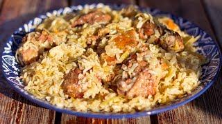 Блюда из утки. Утка с капустой и рисом
