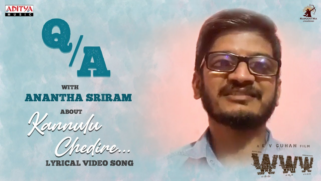 Lyric Writer Anantha Sriram Interview on Kannulu Chedire Song Success - WWW Movie