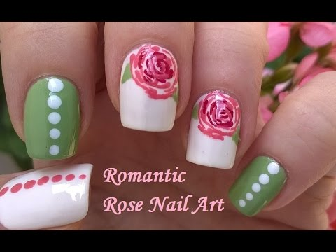 Romantic Vintage ROSE NAIL ART