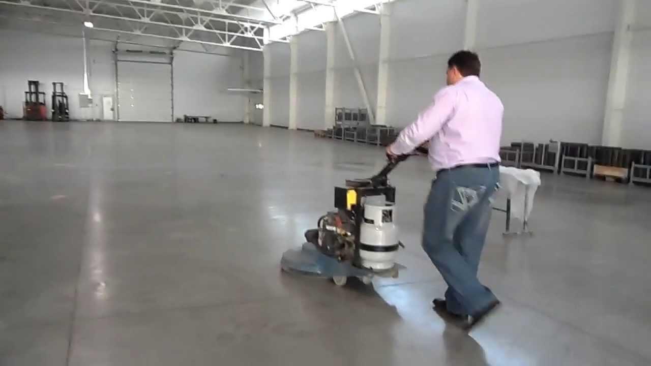 полировка бетона видео