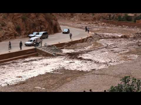 Todra Gorge flash flood.