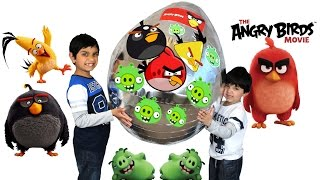 The Angry Birds Movie 2016 Giant Toys Surprise Egg