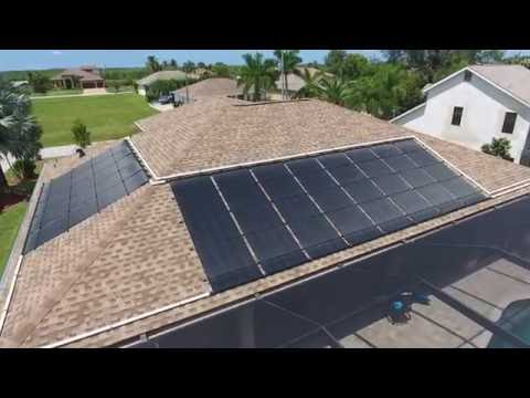 Solar Pool Heating Aerial Video