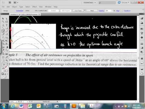 SACE Physics Lesson February13 Effect of Air Resistance on time of flight, Projectiles in Sport