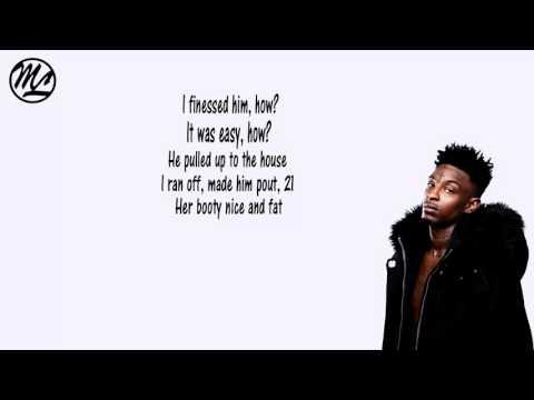 21 Savage - No Target (Lyrics)