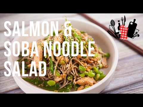 Chicken and Soba Noodle Salad With Ginger root Dressing