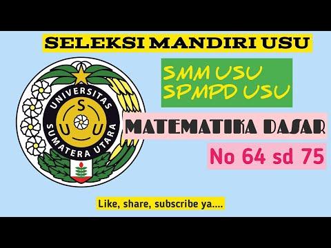 SMM USU Matematika Dasar Part 2 No 64 - 75