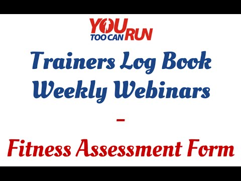Trainera Log Book  Fitness Assessment Form  Youtube
